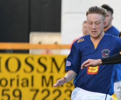 Local lad Regan Graham scored one of Berwick's five Development League goals against Cowdenbeath ( photo courtesy of David Glencross )